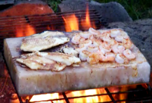 Campfire Grilling with a Himalayan Salt Block