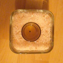 DIY Himalayan Salt Candle Holder