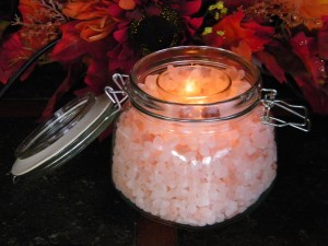 DYI Himalayan Salt Candle Holder Jar Handmade Gift Craft Project